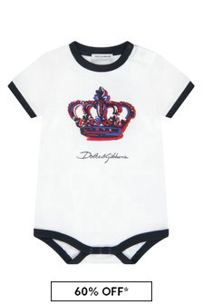 Dolce & Gabbana Kids Dolce & Gabbana Baby Boys White Cotton Bodysuit