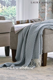Laura Ashley Arya Dark Seaspray Throw