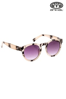 Animal Grey Rebound Round Frame Sunglasses