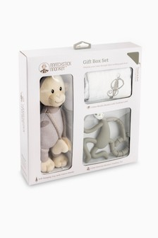 Matchstick Monkey Teething Gift Set - Grey