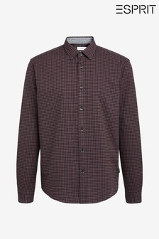Esprit Red Cosy Oxford Check Shirt