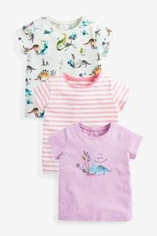 3 Pack Dinosaur T-Shirts (3mths-7yrs)