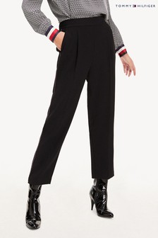 Tommy Hilfiger Black Tattiana Pull-On Trousers