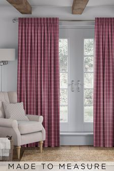 Malvern Vintage Red Made To Measure Curtains