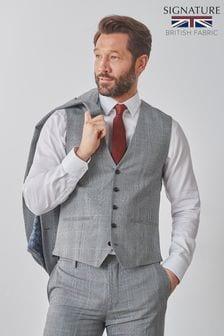 Signature Check Suit: Waistcoat
