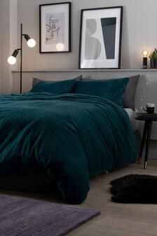 Tilda Faux Fur Duvet Cover and Pillowcase Set