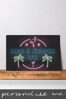 Personalised Bar Metal Wall Art/Metal Sign