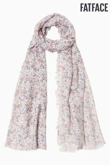 FatFace Natural Winter Ditsy Floral Scarf
