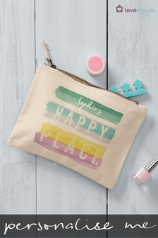 Personalised Happy Place Cosmetic Bag by Loveabode