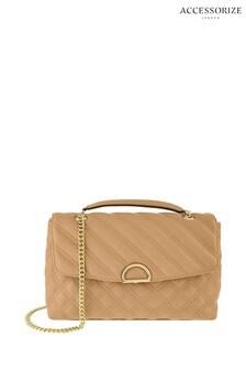 Accessorize Camel Ayda Quilted Shoulder Bag