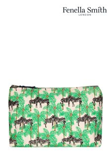 Fenella Smith Zebra And Palm Cosmetic Bag