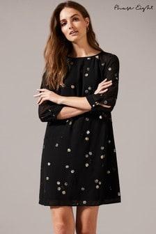 Phase Eight Black Evie Rose Dress