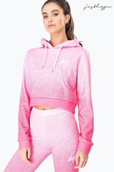Hype. Womens Speckle Fade Crop Pullover Hoody
