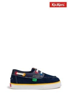 Kickers® Navy Boat Shoes