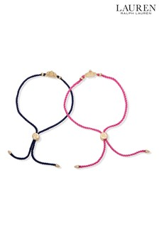 Lauren by Ralph Lauren Crown And Crest Slider Bracelets 2 Pack
