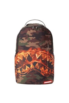 Sprayground Kids Fire Shark Backpack