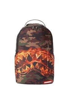 Kids Fire Shark Backpack