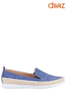 Divaz Blue Kendall Slip-On Summer Shoes