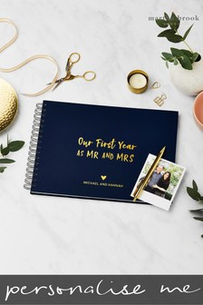 Personalised First Year As Mr & Mrs Photo Album by Martha Brook