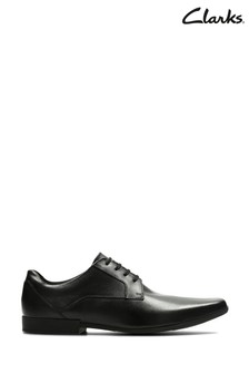 Clarks Black Leather Glement Lace Shoes