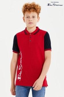 Ben Sherman® Red Ben Outline Polo Shirt