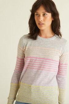 סוודר פסים של Oliver Bonas דגם Joelly באפור