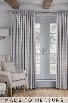 Malvern Paprika Grey Made To Measure Curtains