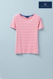 Crew Clothing Company Pink Breton T-Shirt