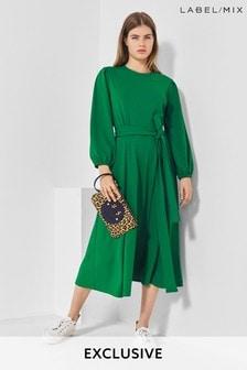 Mix/Cefinn Jersey Midi Dress
