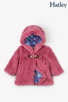 Hatley Pink Rose Faux Fur Baby Hoody