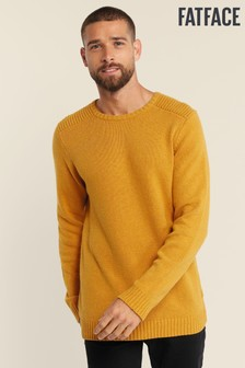 FatFace Yellow Wakefield Crew Jumper