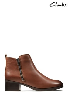 Clarks Tan Mila Sky Boots