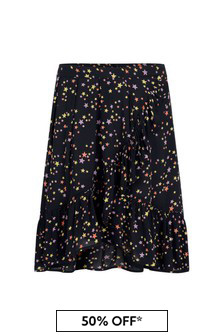 Girls Starry Night Viscose Skirt