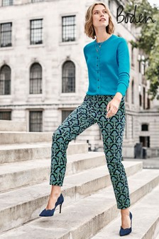 Boden Green Velvet Trousers