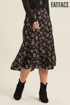 FatFace Black Ellie Star Floral Midi Skirt