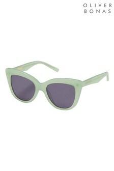 Oliver Bonas Green Rome Cat Eye Sunglasses