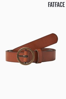 FatFace Brown Circle Buckle Belt