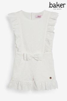Baker by Ted Baker Girls Broderie Playsuit