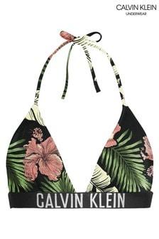 Calvin Klein Green Intense Power Triangle Bikini Top