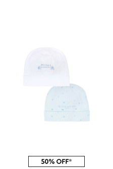 Givenchy Kids Baby Boys Blue Reversible Cotton Hat