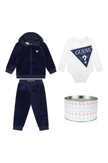 Baby Boys Navy/White Tracksuit Set