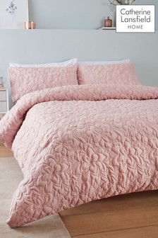 Catherine Lansfield Blush So Soft Pinsonic Duvet Cover and Pillowcase Set