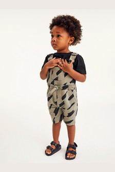 Jersey Short Dungarees And T-Shirt Set (3mths-7yrs)