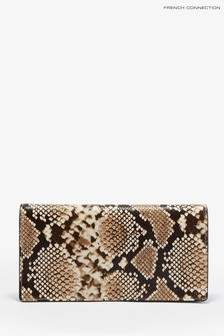 French Connection Python Natural Leather Clutch Bag