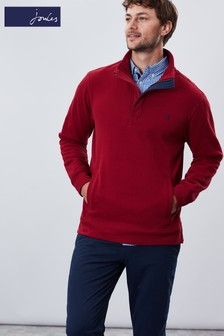 Joules Red Deckside Half Zip Sweatshirt