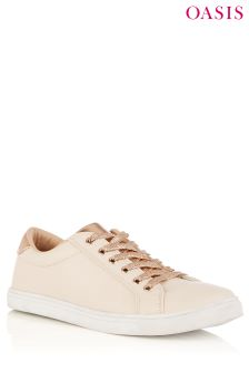 Oasis Nude And Metallic Trainer