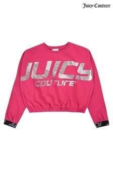 Juicy Couture Pink Foil Branded Sweatshirt