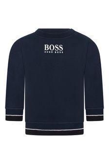 Baby Boys Cotton Logo Sweater