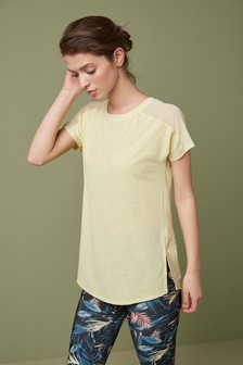Short Sleeve Mesh Panel T-Shirt