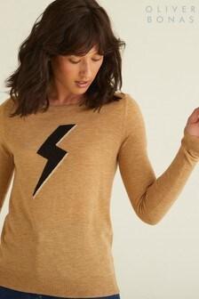 Oliver Bonas Camel Lightning Bolt Jumper